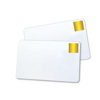 PVC Cards Blank White with Gold Seal